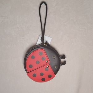 NWT Betsey Johnson Lady Bug Coin Purse Wristlet
